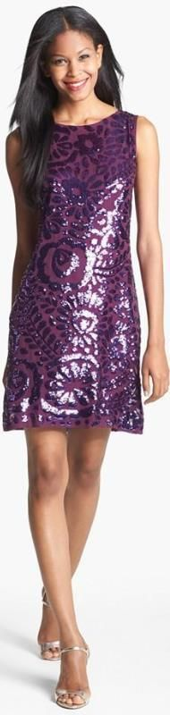 The Perfect Sequin Silk Dress