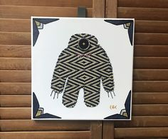 Big Monster #5 Fabric Wall Art by CottonwoodCove on Etsy