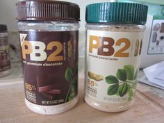 If you don't know about PB2 you better ask somebody!!! 2 tbsp = 52 calories, 4g protein (vs. 200 for peanut butter). Search it on the BF Amazon or Netrition link and get you some!!!