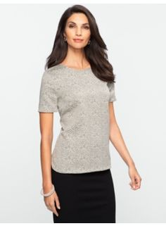Ocelot Jacquard Top I like this but the color is a little boring