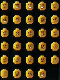 Lego faces!                                                                                                                                                      More