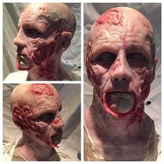 Finished zombie mask! Casted in dragon skin fx pro from @smoothon painted with silc pig also from @smoothon thanks for the great products! Can't wait for Halloween! #smoothon #zombie #mask #halloween #specialeffectsmakeup #makeup #walkingdead #silicone #dragonskinfxpro #halloween : @mattisentertainment