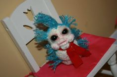 FoxyBlue Creations: Free Pattern for crochet worm from Labyrinth :)