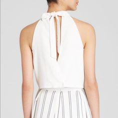 J.O.A Tie Back Crop Top NWT Sold out nwt white halter top J.O.A Tops Blouses