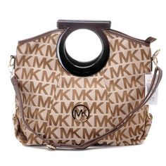 2013 Michael Kors Classic Tote Monogrammed Camel 31503