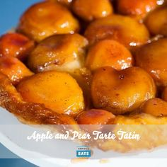 For this variation on a classic tarte Tatin, we caramelize the two fruits in a rich syrup of butter, sugar, and apple cider, then bake it all in a flaky puff pastry crust.