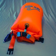 Swim Buoy - New Wave Open Water Swim Buoy - Large (20 Liter) - TPU Orange