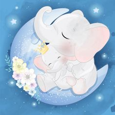 Lindo elefante madre y bebé Vector Premi. Boat Cartoon, Cartoon Art, Baby Shower Background, Mother And Baby Elephant, Baby Animals, Cute Animals, Baby Raccoon, Nursery Pictures, Cute Llama