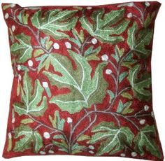 Indian Pillow Cases Hand Embroidered - Ethnic India Home Decor