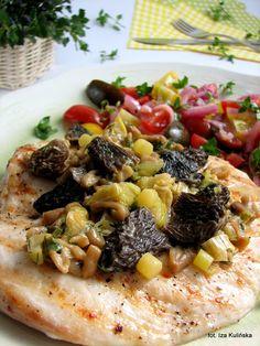 Smaczna Pyza: Filet grillowany ze smardzówkami - http://smacznapyza.blogspot.com/2013/05/filet-grillowany-ze-smardzowkami.html