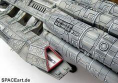 Battlestar Galactica: Battlestar Pegasus, Modell-Bausatz ... http://spaceart.de/produkte/bsg011.php