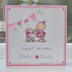 LOTV baby card - gorgeous colouring and layout.