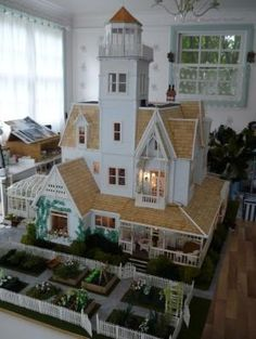 """""""practical magic doll house"""" by margret Diy Dollhouse, Dollhouse Miniatures, Victorian Dollhouse, Modern Dollhouse, Dollhouse Interiors, Victorian Dolls, Practical Magic House, Casas Containers, Fairy Houses"""
