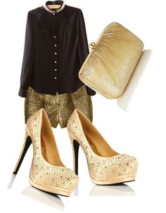 Black and gold for a speech)follow me for more fasion ideas/at fasionsense2004 is my username