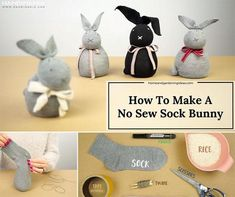 How To Make A No Sew Sock Bunny