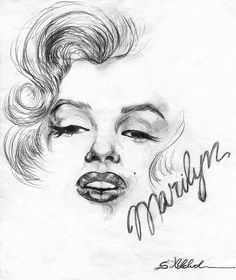 This but with red lips Marilyn Monroe Tattoo, Marylin Monroe Drawing, Marilyn Monroe Dibujo, Marilyn Monroe Pop Art, Marilyn Monroe Photos, Marilyn Monroe Painting, Drawing Sketches, Pencil Drawings, Art Drawings