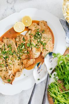 Eva Amurri Martino shares her recipe for the best Veal Scallopini recipe ever! It's really simple, delicious, and doesn't take too long to prep or cook Healthy Cooking, Beef Recipes, Cooking Beef, Healthy Eats, Chicken Recipes, Veal Scallopini, Chicken Scallopini, Beef, Kitchens
