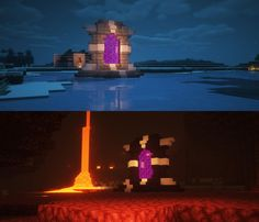 Our nether portals for our parties city on my buddies server. Inspired by a pic . Minecraft Portal, Casa Medieval Minecraft, Minecraft Building Guide, Minecraft Plans, Amazing Minecraft, Minecraft Survival, Minecraft Tutorial, Minecraft Blueprints, Building Games