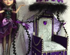 Trohn Couch Sofa Furniture for Ever After High or Monster High dolls