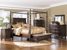 Key Town King Canopy Bedroom Set | Ashley | Home Gallery Stores