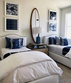 Shared bedrooms, twin bedroom ideas, guest bedrooms, girls bedroom, home . Beach House Bedroom, Home Bedroom, Bedroom Decor, Teen Bedroom, Wall Decor, Wall Art, Shared Bedrooms, Guest Bedrooms, Guest Room