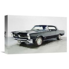 Naxart '1966 Pontiac GTO' Painting Print on Wrapped Canvas Size: