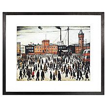 Buy LS Lowry - Going To Work 1943 Framed Print, 41.1 x 50.8cm Online at johnlewis.com