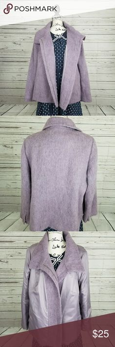 """Talbot purple/lilac zip up wool alpaca jacket Size:16W Sleeve:24"""" Pit to pit(flat):24"""" Shoulder to bottom:25"""" Add this great warm comfy jacket to your winter wardrobe 😍😍😍 Talbots Jackets & Coats Pea Coats"""