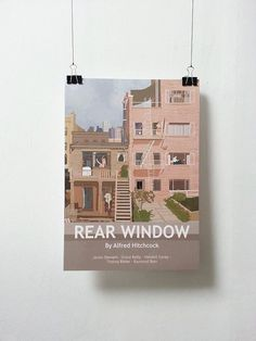 This is a Rear Window movie inspired print.  A3 size is 29.7x42cm or 11.69x16.53 inches. A3 prints : 250mg matte paper ready to be shipped.