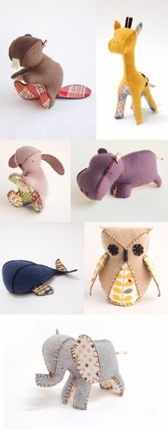 Cute stuffed animal toys, love the whale and elephant