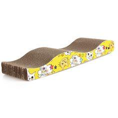 S-形猫子猫段ボールスクラッチボードパッド難問ベッドマット爪ケアインタラクティブ玩具用ペット猫トレーニング猫のおもちゃ