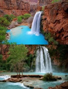 National Geographic named Havasu Falls one of America's best swimming holes. Unlike most waterfalls in the world, Havasu Falls is spring-fed, making it a great place to swim year-round. The main falls are over 100 feet high, with Caribbean-blue waters roaring over the red rock at over 29,600 gallons a minute and dropping into pristine travertine pools. Located whithin the Grand Canyon, Havasu Falls is a bit out of the way (a 9-mile hike with a 2,350 vertical drop, to be exact), but it's well ...