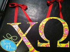 chi o lilly print letters