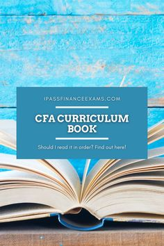 The CFA curriculum text book is massive! Where should you start? Check out the best way to read the CFA curriculum here:  #CFA #testprep #accounting