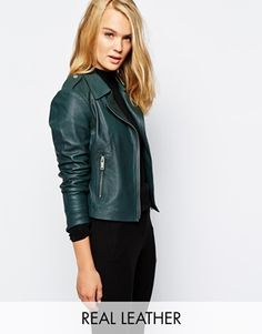 Reiss Leather Biker Jacket