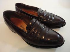 Allen Edmonds Dress Shoe Men Size 10.5 D Barrington Burgundy Leather Loafer  #AllenEdmonds #LoafersSlipOns