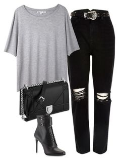 """""""Untitled #1119"""" by deamntr ❤ liked on Polyvore featuring River Island, Acne Studios and Prada"""