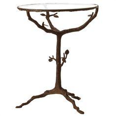 Sherwood Iron & Glass Table.