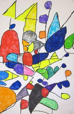 Nice Stuart Davis lesson. from Art is Basic-- Art Teacher Blog: Alphabet Art: First Grade