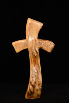 free standing cross from willow burl by Mastersondesign on Etsy, $35.00