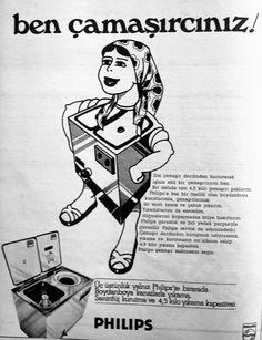 OĞUZ TOPOĞLU : philips çamaşır makinesi 1975 nostaljik eski rekla...