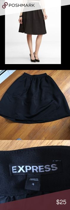 Express circle skirt One of my favorites... black circle skirt with lining. 25 inches long Express Skirts Circle & Skater