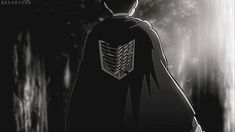 Imagen de black and white, anime, and gif
