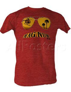 Magnum P.I. - Mustache T-shirt na AllPosters.cz.