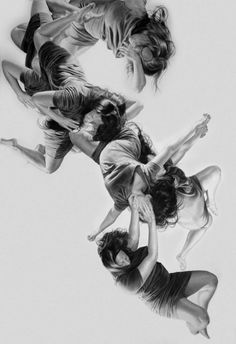 NY artist Leah Yerpe enjoys in creating moving moments of human figures in different poses, twisting, floating and falling on a ground purged of contextualizing marks. His works ranges from paintings, drawings and illustrations