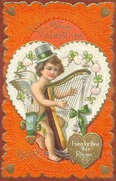 vintage valentine card,