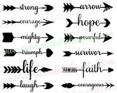 Flecha palabras Svg flechas Svg flechas con por cardsandstitches