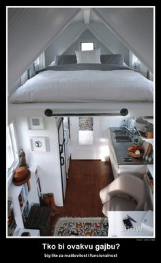 I would totally live in a house like this. Such a cute idea for a small house!
