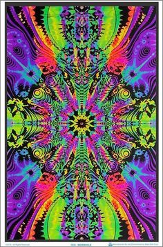 23 x psychedelic black light poster. Down the wormhole optical illusion black light poster. Fuzzy Posters, Weed Wallpaper, Hippie Wallpaper, Pink Wallpaper, Mobile Wallpaper, Hippie Posters, Black Light Posters, Sale Poster, Psychedelic Art