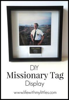 diy missionary tag display